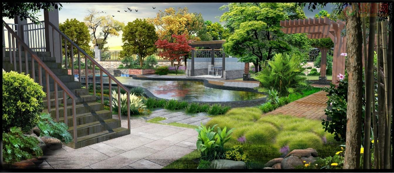 私家庭院景观效果表现